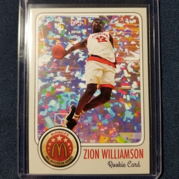 Zion Williamson Mcdonalds All American Rookie Card